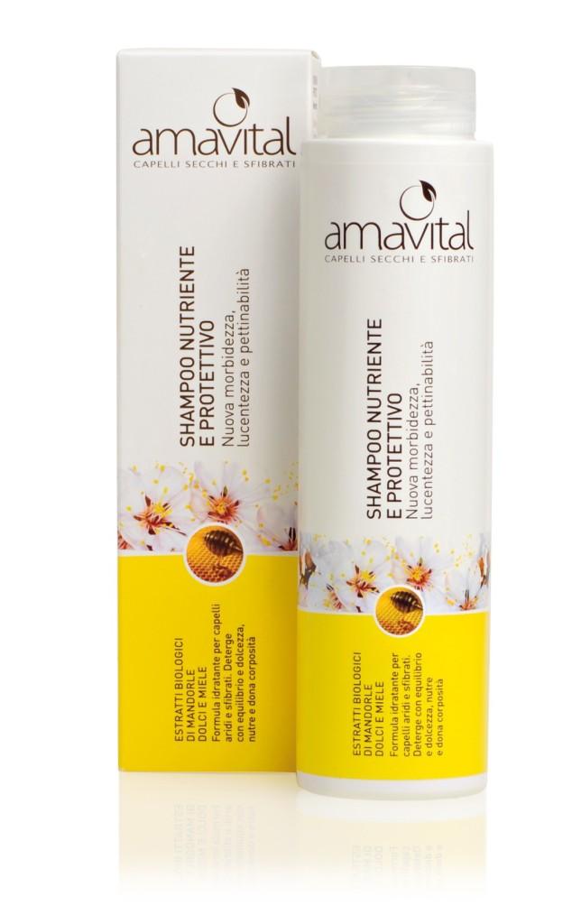 Oficine Clemàn - Amavital Capelli Secchi e Sfibrati, Shampoo Nutriente e Protettivo