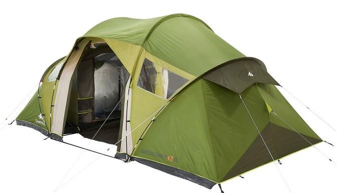 tenda da campeggio Arpenez per 4 con 2 camere separate