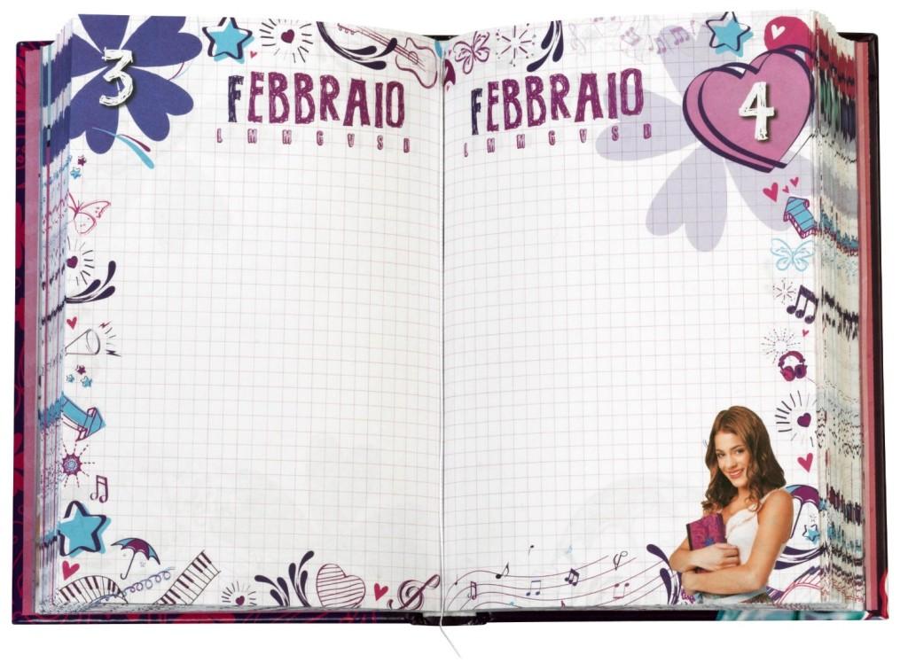 Diario violetta 10 Mesi, Formato Standard
