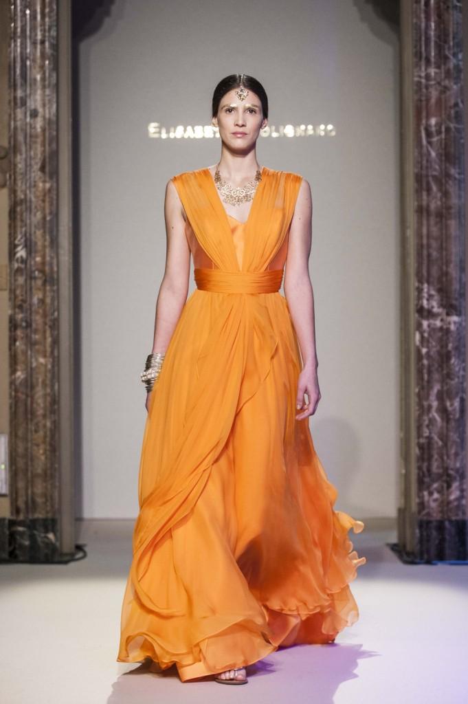 Abito da sposa arancione leggero