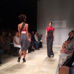 """Il tema della sfilata è """"Industrial Couture"""", come fare alta moda con tessuti da lavoro."""