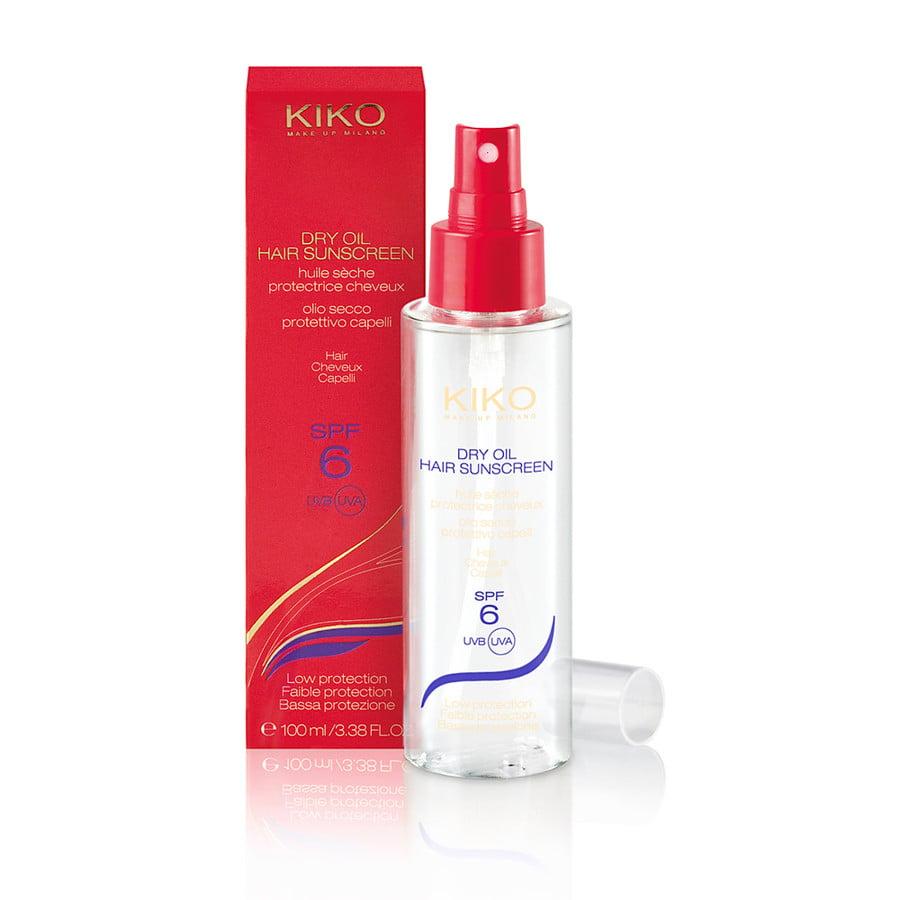Kiko Dry Oil Hair Sunscreen Olio secco protettivo capelli con SPF 6