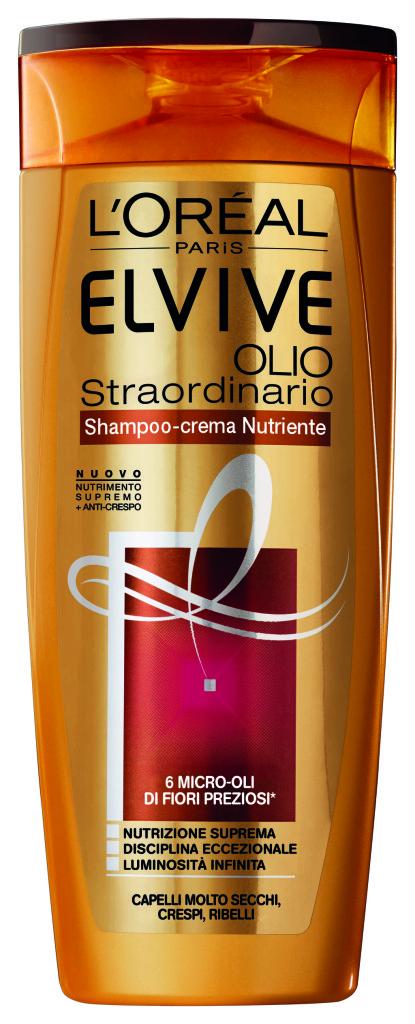 Elvive Olio Straordinario Shampoo Crema Nutriente