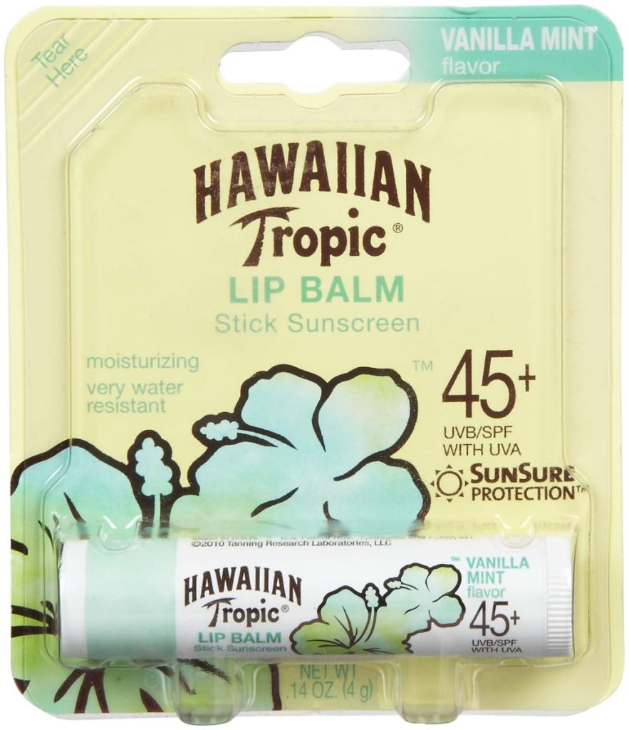 Hawaiian Tropic Vanilla Lip Balm SPF 45+ Sunscreen