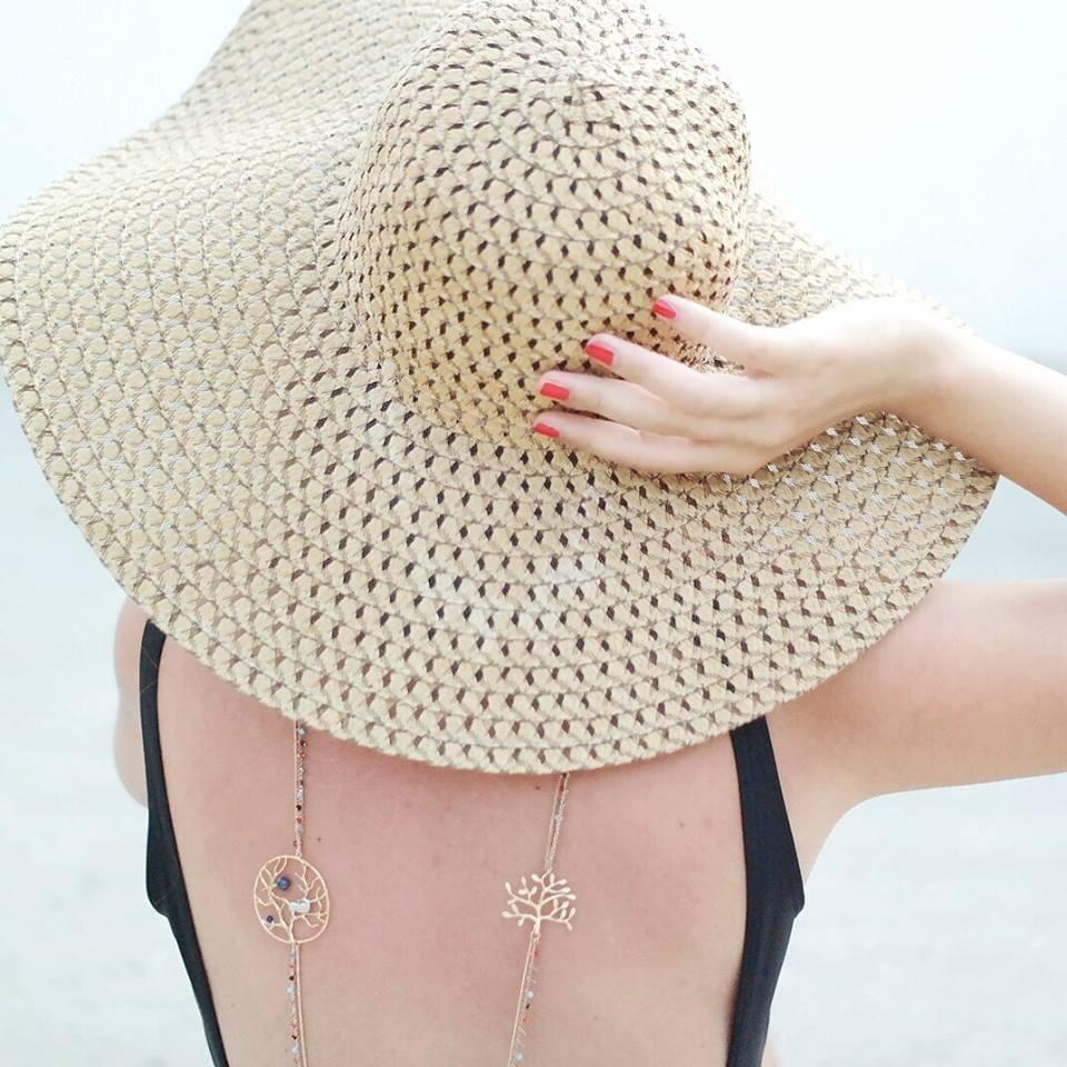 Il cappello in paglia è perfetto da indossare in estate come ci mostra la blogger  Sabrina Musco