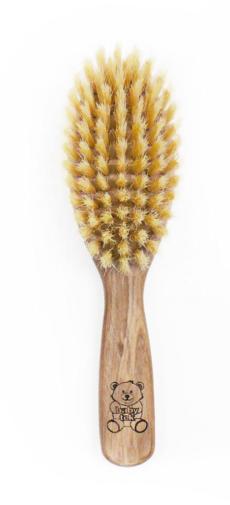 Tek - spazzola baby setole naturali - ideale per pettinare i capelli dei bimbi in spiaggia