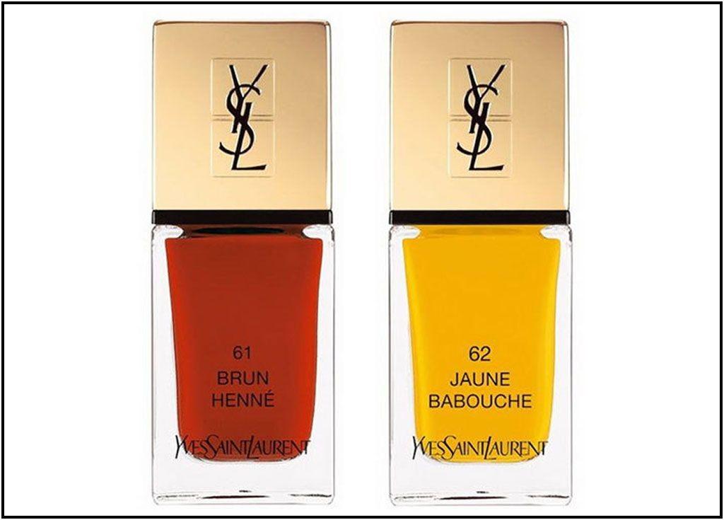 Yves Saint Laurent Terre Saharienne Collection - La Laque Couture: 61 Brun Henné 62 Jaune Babouche