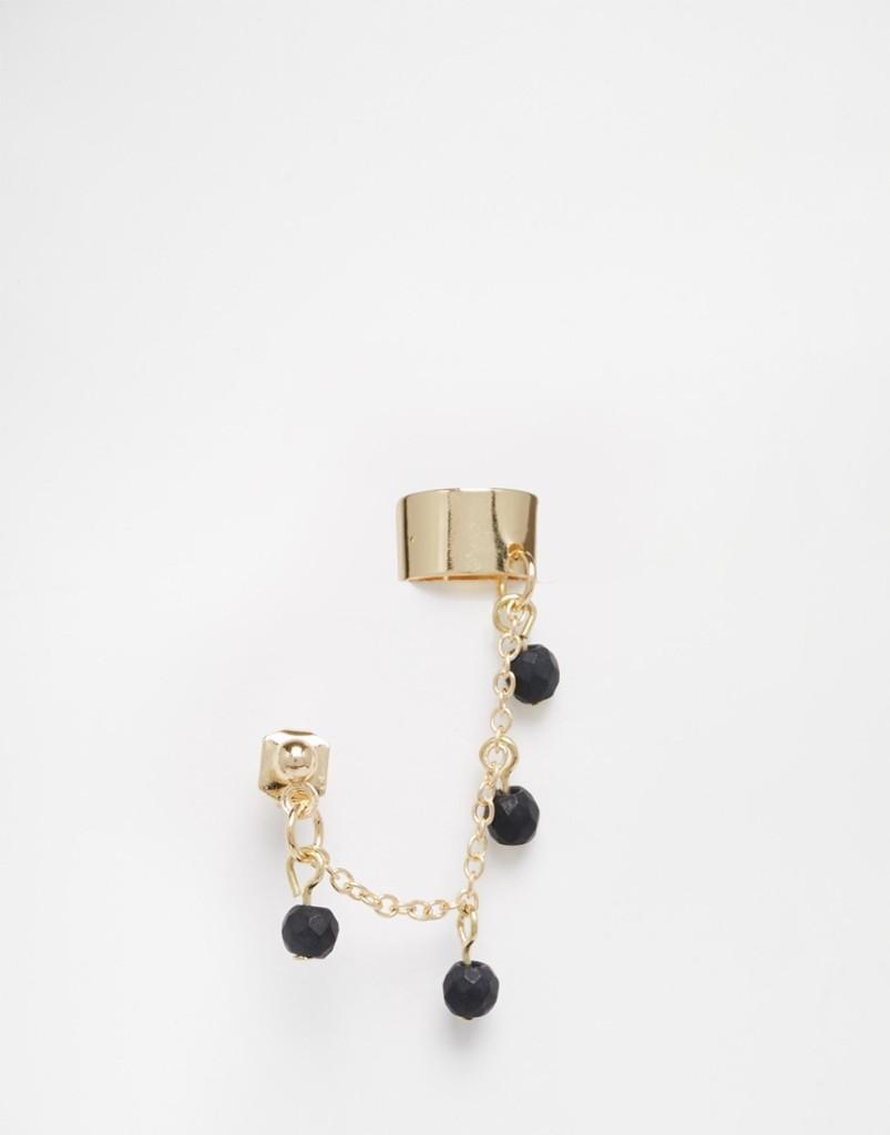 Ear cuff con catena e perline 2,99 euro su Asos