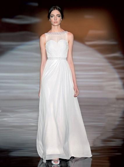 abito-bianco con corpetto a cuore in organza e seta