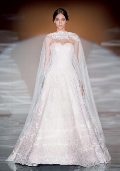 abito da sposa bianco in pizzo