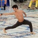 Cristian in una coreografia del serale