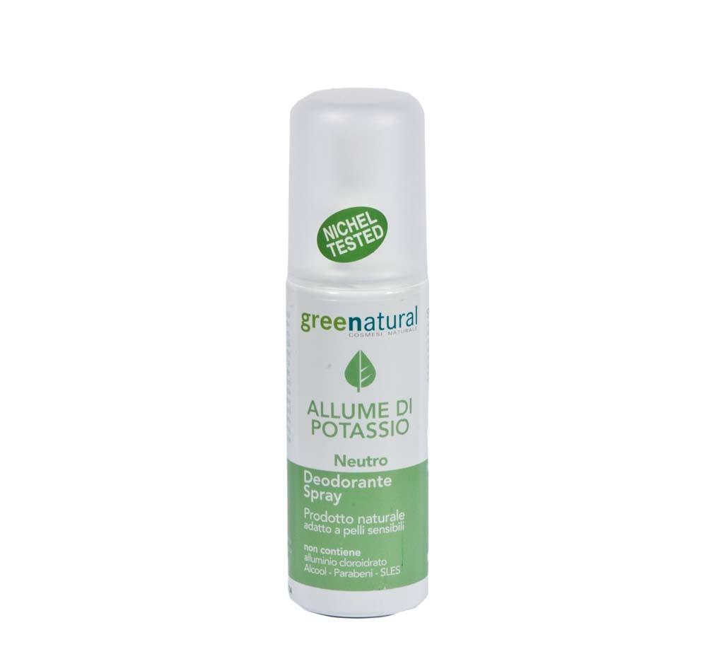 Deodorante spray all'Allume di Potassio – neutro - Green Natural