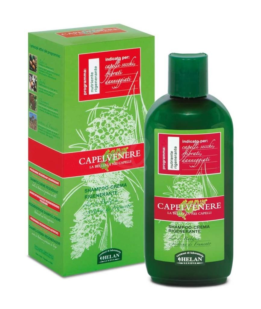 Shampoo crema rigenerante per capelli secchi e sfibrati Capelvenere Helan