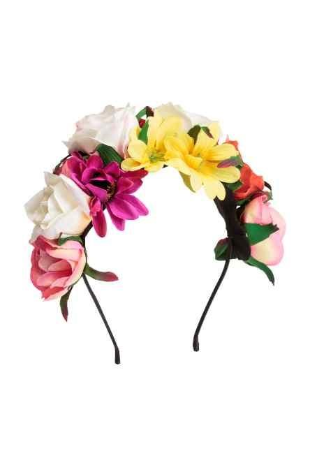 Corona di fiori multicolor H&M