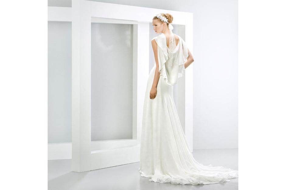 abito morbido bianco modello a sirena