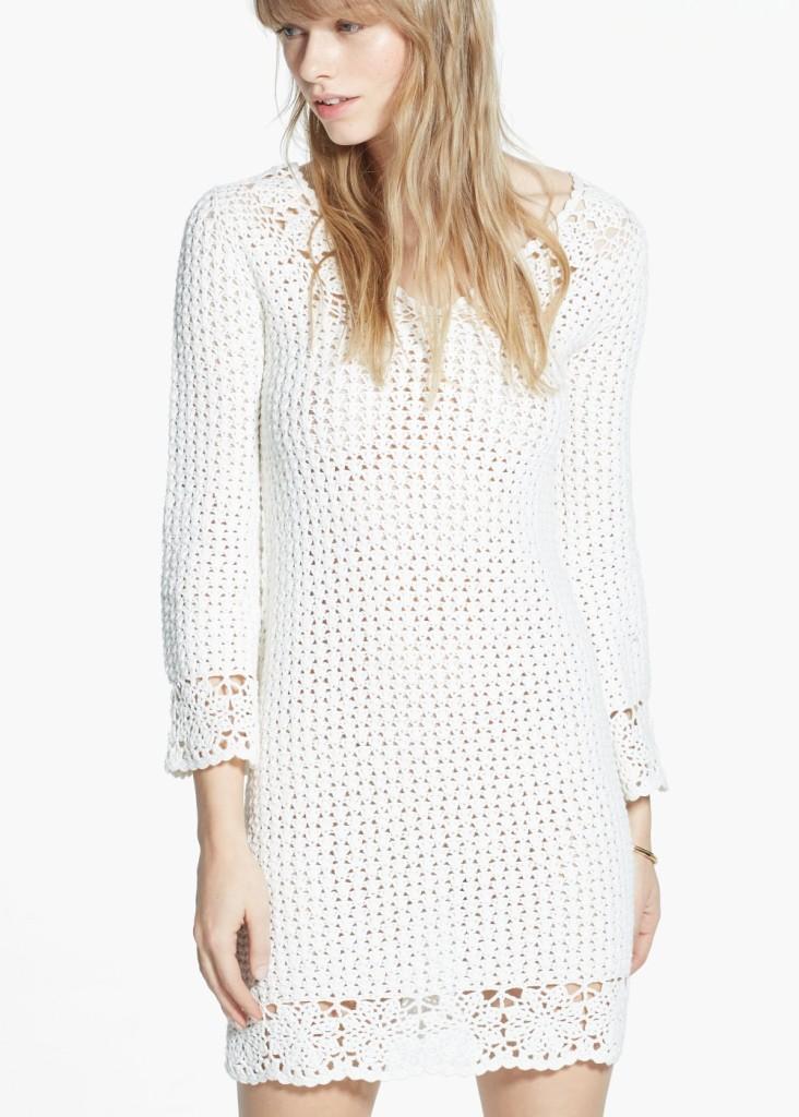 Vestito crochet in cotone 29,99 euro da Mango