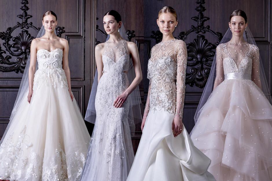 4 abiti sposa dalle tonalità del bianco con dettagli sparkling