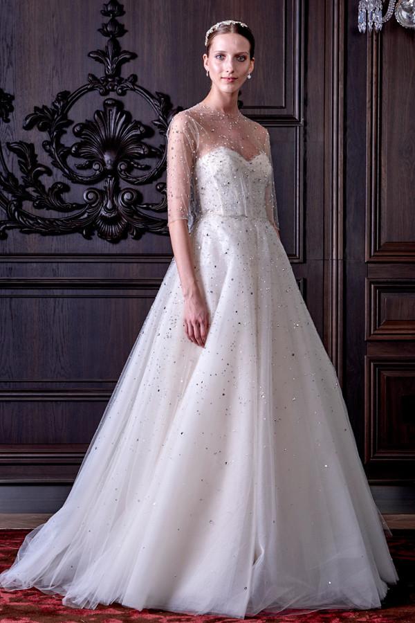 abiti sposa BRILLIANCE  con dettagli luminosi in cristallo