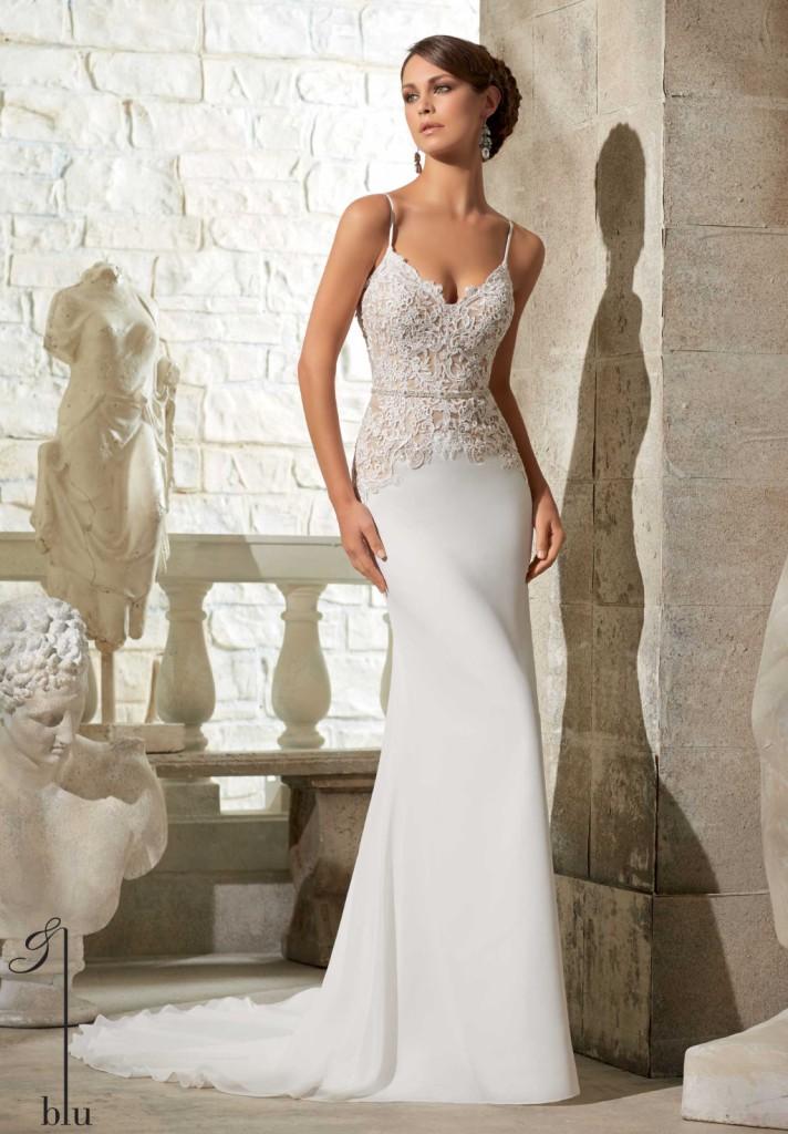 0bbfdd730cc9 ... abito sposa in chiffon e georgette particolari ...