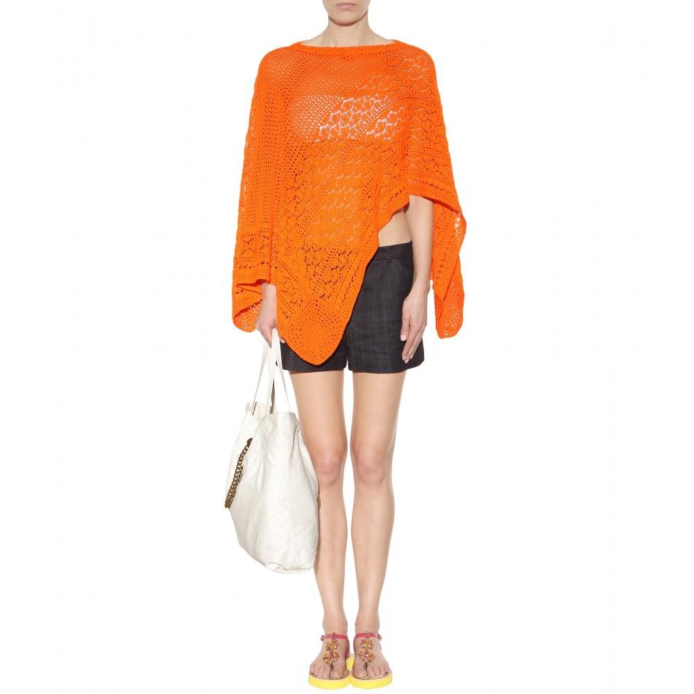 Poncho in cotone crochet Emilio Pucci Beach 450,00 euro su Mytheresa