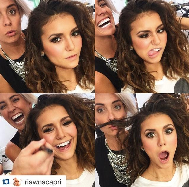 Nina Dobrev_ Bellissima con un make up che punta sull'intensità dello sguardo