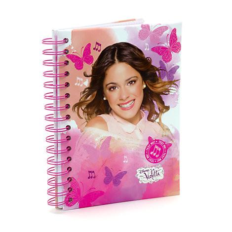 Quaderno musicale Violetta con canzone Te Creo