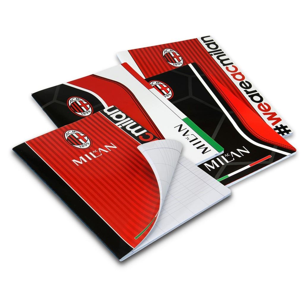 quaderni  della squadra del Milan