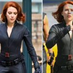 La bellissima attrice Scarlett Johansson appare con capelli rosso fuoco in uno dei suoi ultimi film: The Avengers