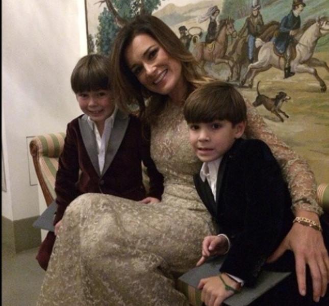 Alena Seredova in compagnia dei due figli