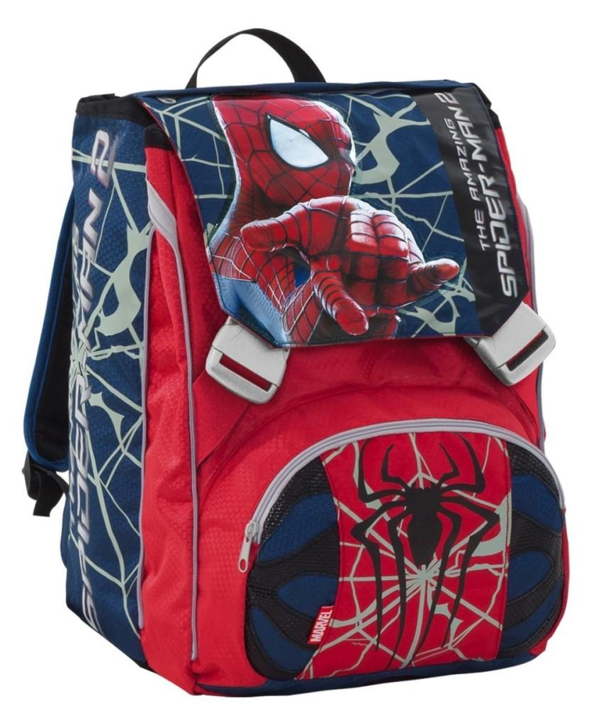 zaino scuola con fantasia spiderman