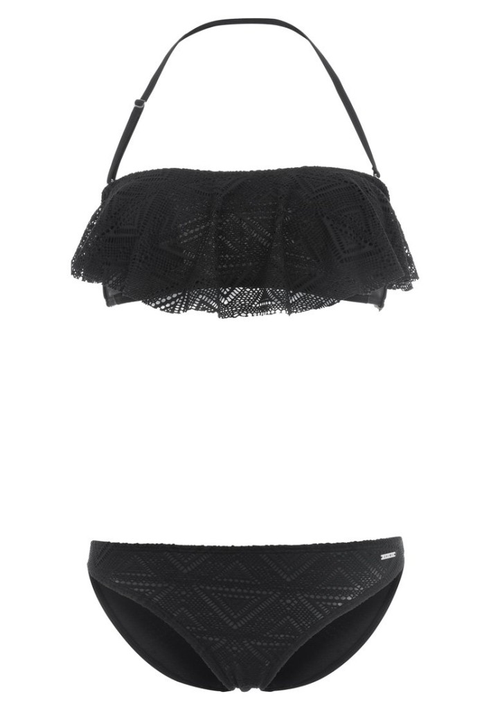 Bikini nero crochet 40,00 euro su Zalando