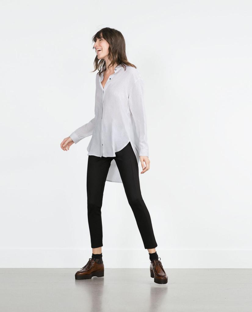 ZARA_pantalone nero, maglia e scarpe stile maschile