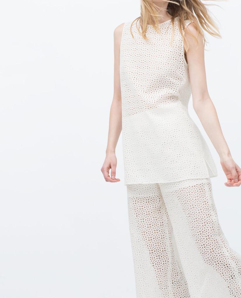Tunica ricamata in cotone Zara
