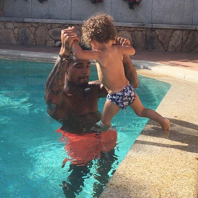Boateng e il figlio