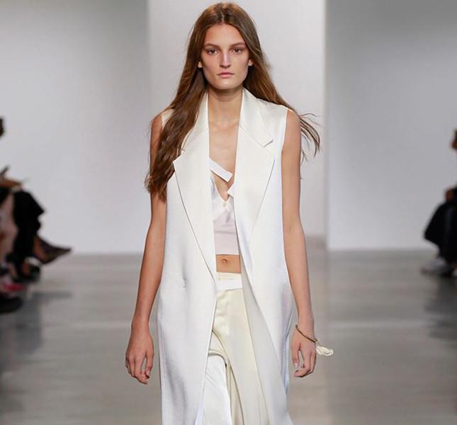 Calvin Klein gilet lungo bianco