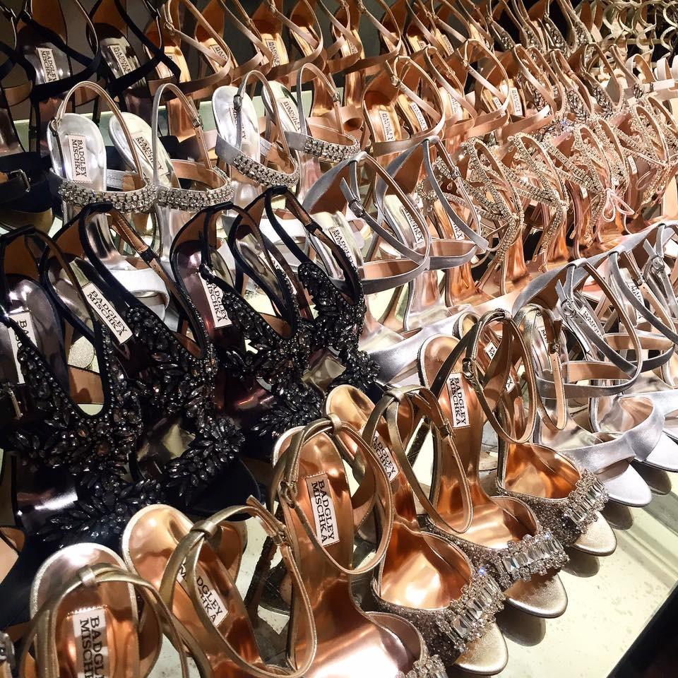 Dettaglio della scarpe della collezione Badgley Mischka SS 2016