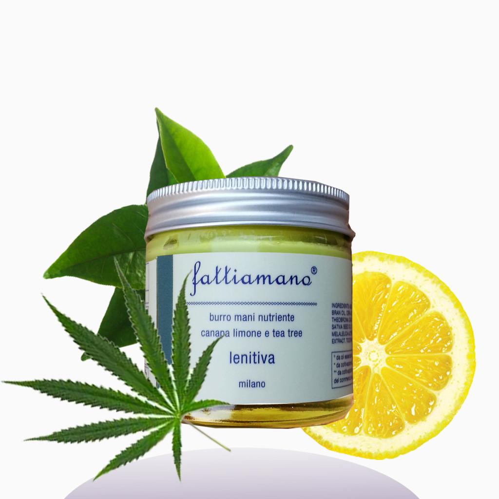 FattiaMano - Burro mani e piedi, canapa, limone igp e tea tree