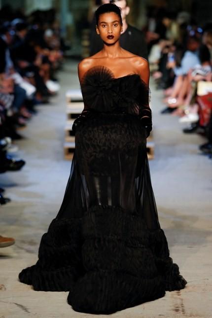 Givenchy abito con dettagli fur