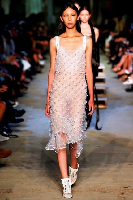 Givenchy abito bianco con trasparenze