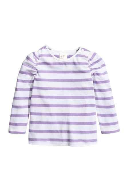 Maglia in jersey a maniche lunghe H&M.