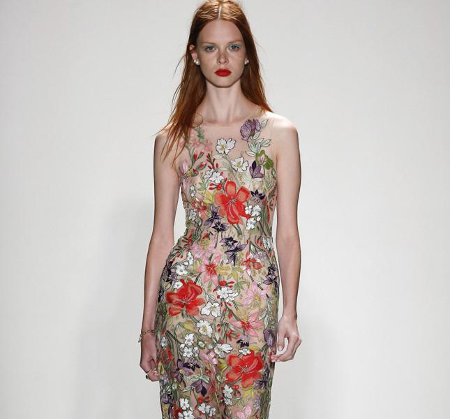 Jenny Packham abito lungo a fiori