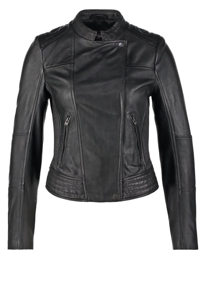 ... nera  Pepe Jeans JENNA - Giacca di pelle - black ... 2e992d68145