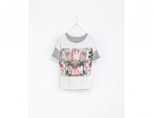 T-shirt stampata Zara (14,95 euro)