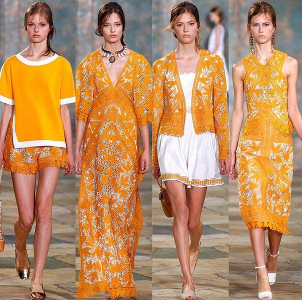 Arancione mon amour da Tory Burch primavera-estate 2016