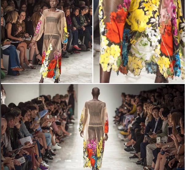 Blumarine abito con fiori multicolor