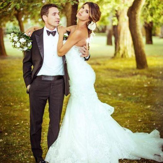 Il giorno del matrimonio con Brian Perri