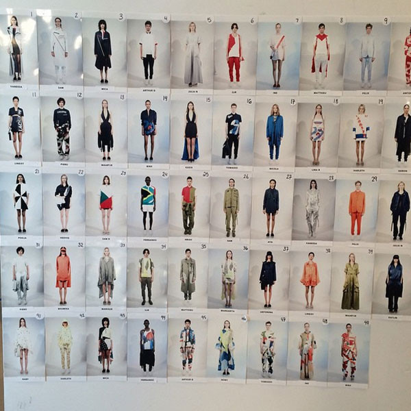 Il look board della sfilata Lacoste SS 2016