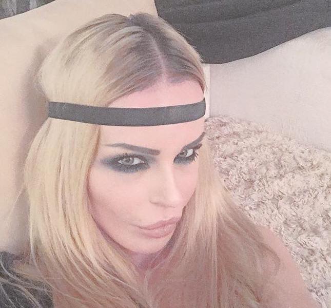 La modella e showgirl croata Nina Moric