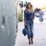 Jeans a vita alta e scarpe con il tacco