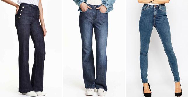 Direttamente dagli anni '70 e '80, i jeans a vita alta sono i grandi protagonisti dell'AI 2015-2016